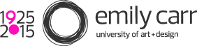 Emily Carr University of Art + Design 90 year logo
