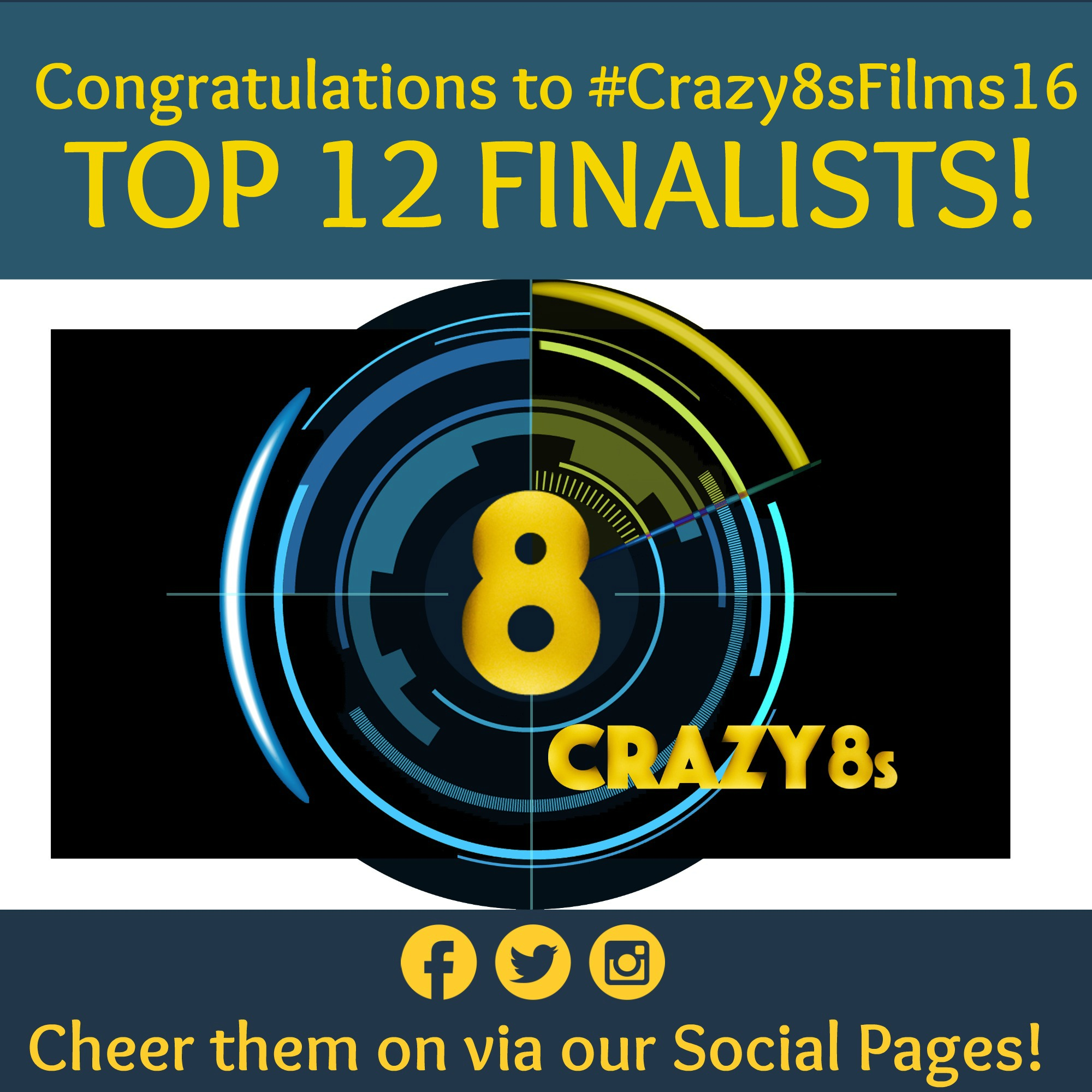 #Crazy8sFilms16 Top 12 meme